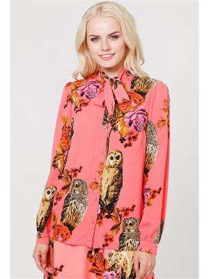 Блузка MARY MEA. Цвет: розовый