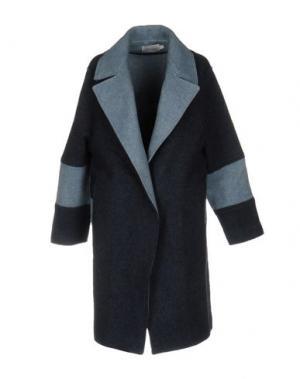 Пальто PAOLO ERRICO. Цвет: синий