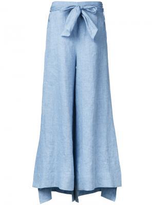 Расклешенные брюки с поясом Demoo Parkchoonmoo. Цвет: синий