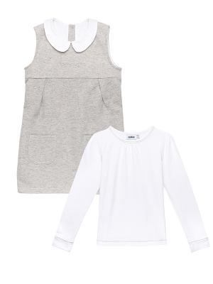 Комплект одежды Cookie. Цвет: серый, белый, молочный