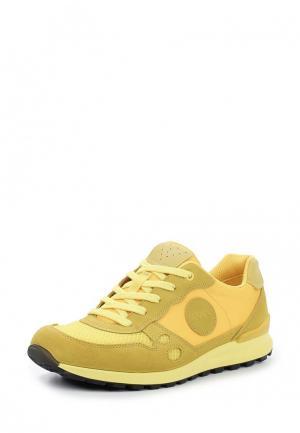 Кроссовки Ecco. Цвет: желтый