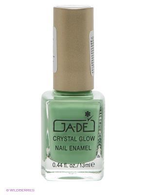 Лак для ногтей Crystal glow nail enamel, тон 390 GA-DE. Цвет: светло-зеленый