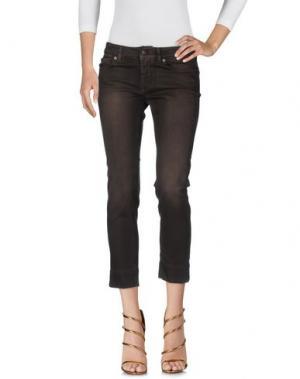 Джинсовые брюки-капри NOTIFY. Цвет: темно-коричневый