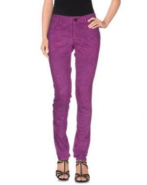 Джинсовые брюки BLACK ORCHID. Цвет: фиолетовый