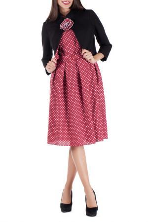 Жакет с платьем Mannon. Цвет: розовый