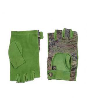 Перчатки GABRIELE PASINI. Цвет: зеленый