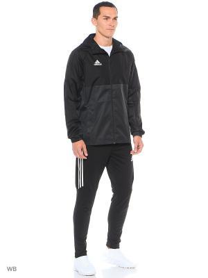 Куртка-бомбер муж. TIRO17 RN JKT BLACK/DKGREY/WHITE Adidas. Цвет: черный