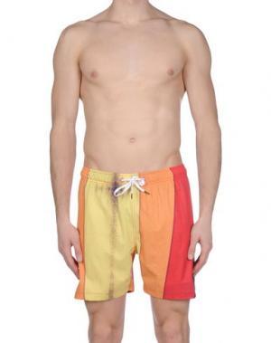 Пляжные брюки и шорты HUMDRUM. Цвет: желтый