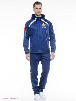 Спортивный костюм ADDIC. Цвет: синий, белый