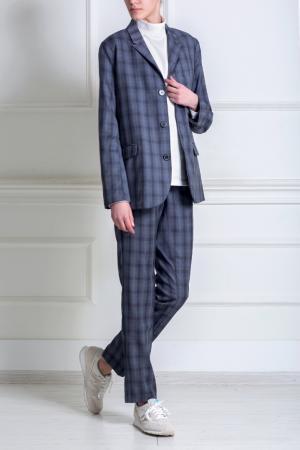 Прямые брюки Title A. Цвет: серо-голубой