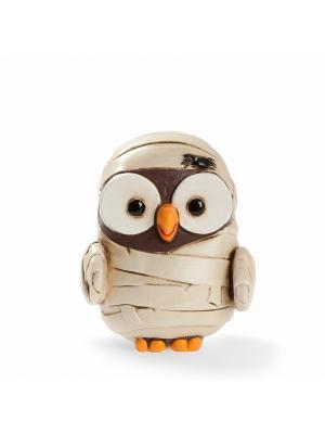 Керамическая статуэтка сова Мумия, Goofi. Цвет: белый
