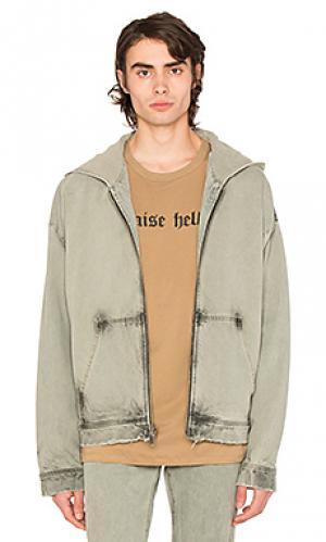 Denim oversized hooded jacket 424. Цвет: none