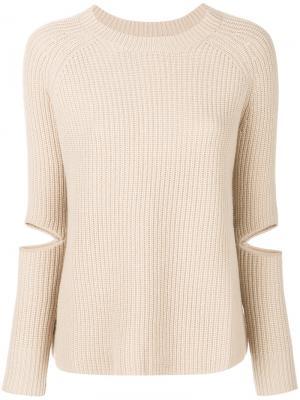 Вязаный пуловер Zoe Jordan. Цвет: телесный