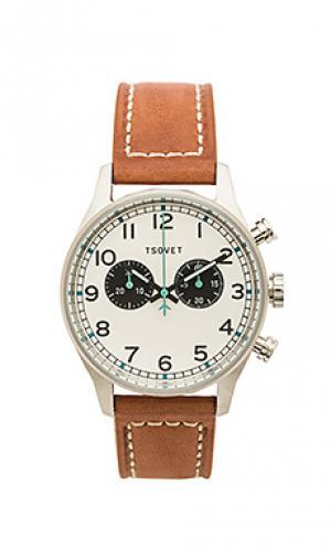 Часы svt-de40 Tsovet. Цвет: коричневый