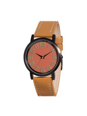 Часы Tokyobay Track Carbon Rust. Цвет: коричневый