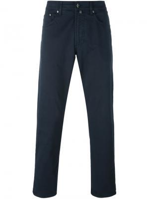 Зауженные брюки Hackett. Цвет: синий
