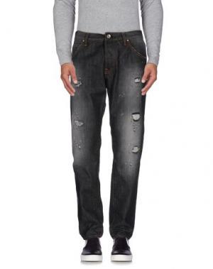 Джинсовые брюки AGLINI. Цвет: черный