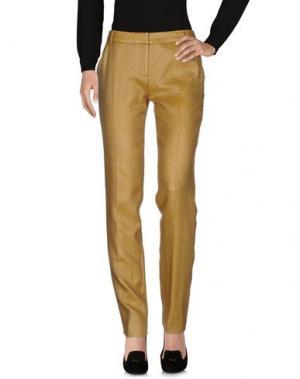 Повседневные брюки MATTHEW WILLIAMSON. Цвет: охра