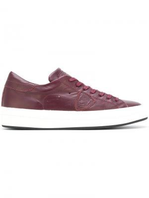 Кеды со шнуровкой Philippe Model. Цвет: красный
