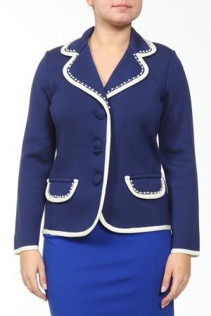 Пиджак ROSANNA PELLEGRINI. Цвет: синий, белый
