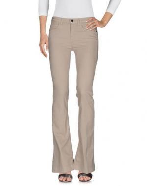 Джинсовые брюки KAOS JEANS. Цвет: бежевый