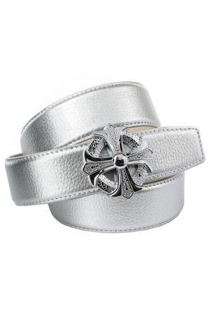 Ремень Anthoni Crown. Цвет: серебряный
