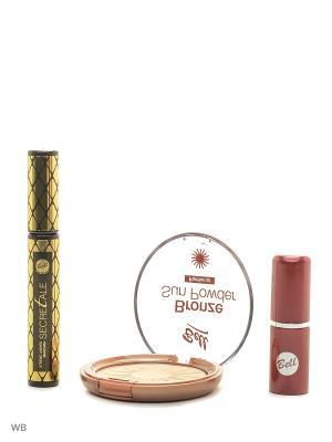 Спайка тушь secretale xtreme lashes, помада lipstick classic, пудра bronze sun powder Bell. Цвет: бежевый, коричневый, черный