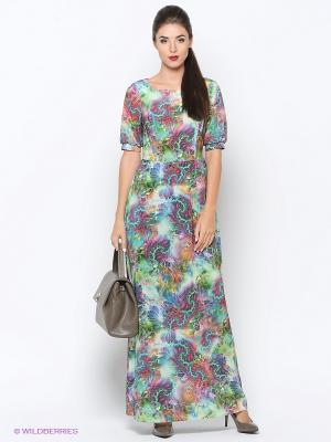 Платье Colambetta. Цвет: зеленый, красный