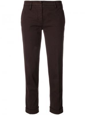 Укороченные строгие брюки Aspesi. Цвет: коричневый