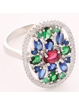 Кольцо BALEX. Цвет: синий, зеленый, красный