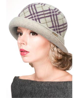 Шляпа Сиринга. Цвет: бежевый, сиреневый
