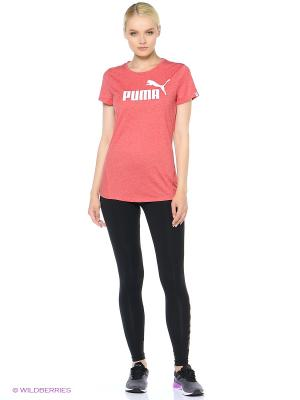 Футболка ESS No.1 Tee Heather W Puma. Цвет: красный