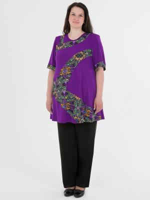 Блузка-туника женская БаяНа. Цвет: сиреневый