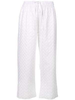 Укороченные широкие брюки Vita Kin. Цвет: белый
