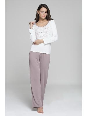Комплект кофта и брюки MARIPOSA. Цвет: серо-коричневый