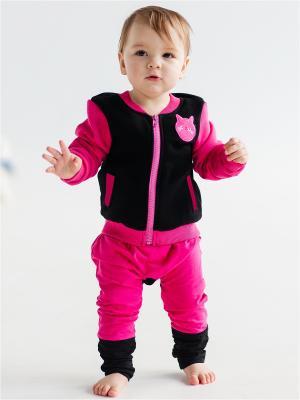 Куртка детская Китти Yuumi. Цвет: черный