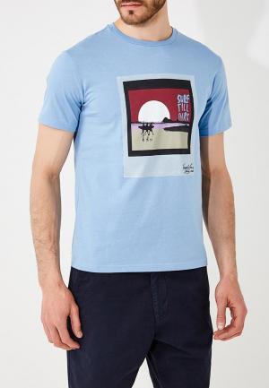 Футболка Trussardi Jeans. Цвет: голубой