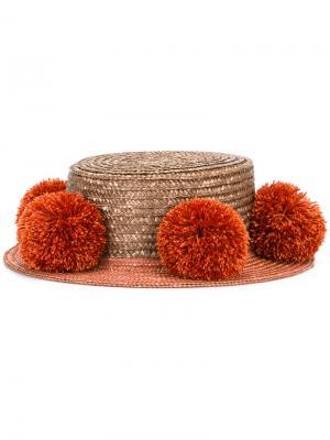Шляпа Jupiter Eshvi. Цвет: коричневый