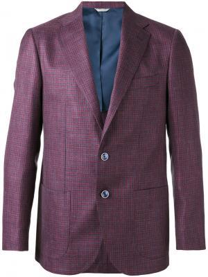 Блейзер в ломаную клетку Fashion Clinic Timeless. Цвет: розовый и фиолетовый