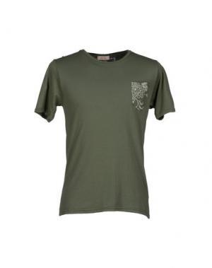Футболка D.R SHIRT. Цвет: зеленый-милитари