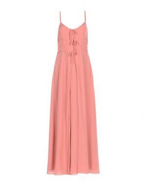 Длинное платье MOSCHINO. Цвет: пастельно-розовый