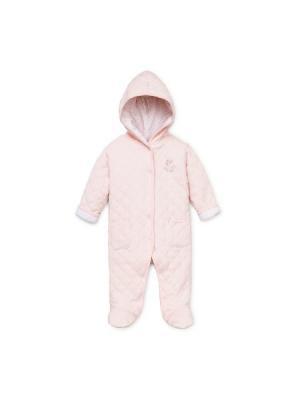 Комбинезон нательный для малыша Little Me. Цвет: розовый