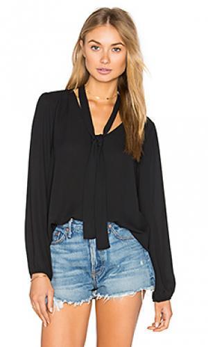 Блуза с длинным рукавом и v-образным вырезом Eight Sixty. Цвет: черный