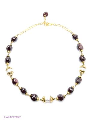 Ожерелье Polina Selezneva. Цвет: бордовый, белый