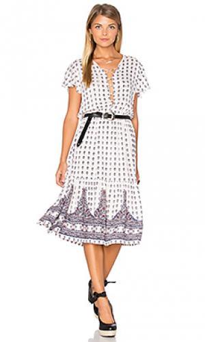 Платье gypsy girl day AUGUSTE. Цвет: белый