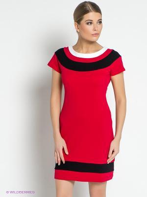 Платье DOCTOR E. Цвет: красный, белый, черный