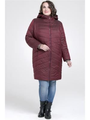 Пальто Modress. Цвет: бордовый