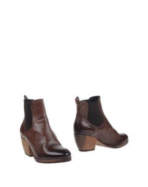 Полусапоги и высокие ботинки INK. Цвет: темно-коричневый