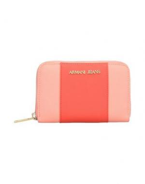 Бумажник ARMANI JEANS. Цвет: лососево-розовый