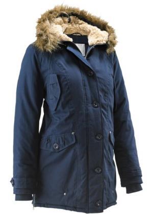 Мода для беременных: куртка с капюшоном (темно-синий) bonprix. Цвет: темно-синий